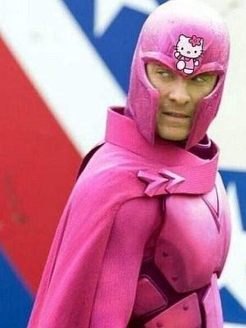 Pinke Superhelden Auch Magneto von den X-Men musste dran glauben