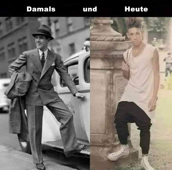 Mode und Fashion Damals und Heute Männermode