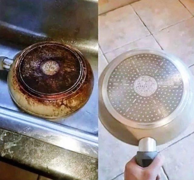 Bratpfanne richtig reinigen