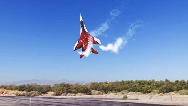 waghalsiges mig-29 flugmanöver SPECTACULAR Soviet Mikoyan MiG-29 OVT VECTORED THRUST Demo